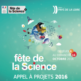 Appel à projets Fête de la Science 2016