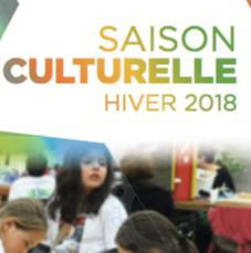 Découvrez notre saison culturelle hiver 2018